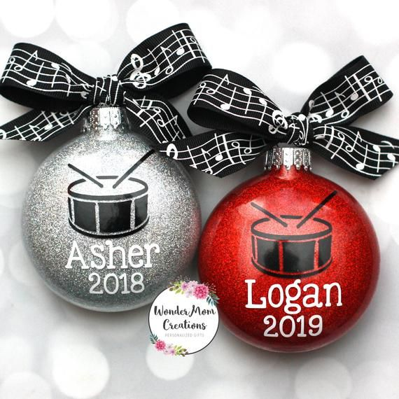 Drum Snare Personalized Christmas Ornament Drumline Christmas