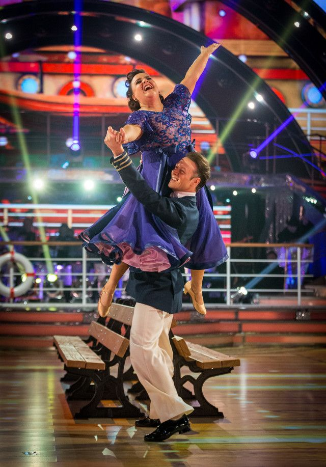 SCD week 10, 2017. Susan Calman & Kevin Clifton. American Smooth. Voted off. BBC/Guy Levy
