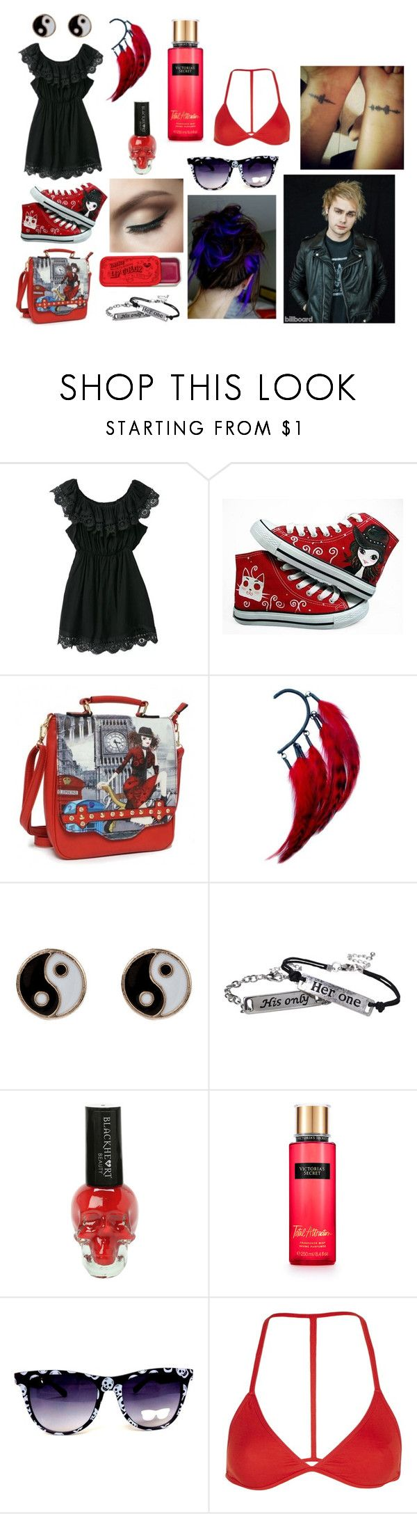 """""""Michael Clifford's girlfriend (Not Really)"""" by allyfazio ❤ liked on Polyvore featuring HVBAO, Anni Jürgenson, Accessorize, Victoria's Secret and Topshop"""