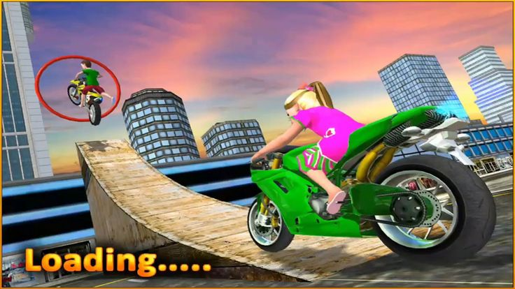 Kids Motorbike Stunts Master Roof Top Arena 2018 - Android GamePlay for Kids - Car Games