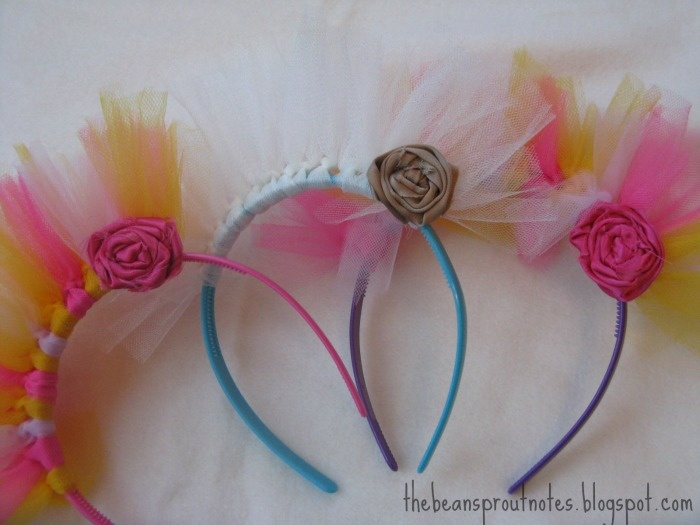 The Bean Sprout Notes: My Sister's Headband for the Glow Run 5K