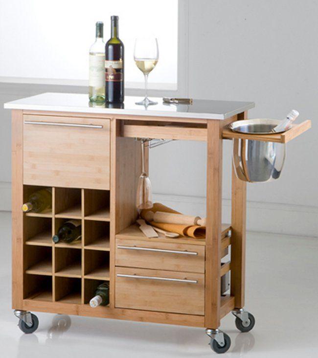 txt brandani carello con cantinetta porta bottiglie porta champagne in legno 37efgc19 isole per cucina