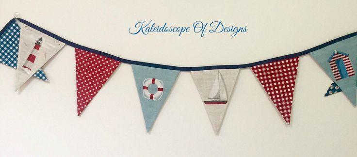 A personal favourite from my Etsy shop https://www.etsy.com/au/listing/480700811/nautical-theme-bunting-sailing-theme