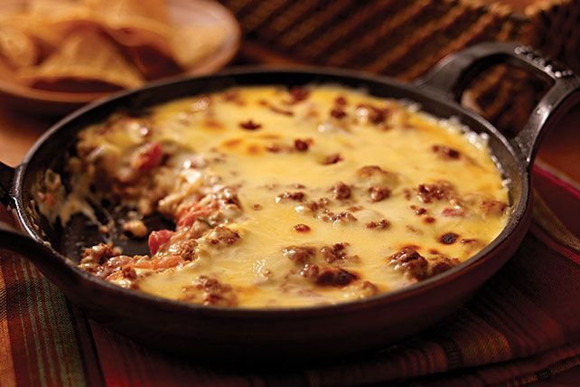 Think of it as a Mexican-style cheese dip with chorizo, diced tomatoes and green chilies. All you need are tortilla chips, and it's a party!