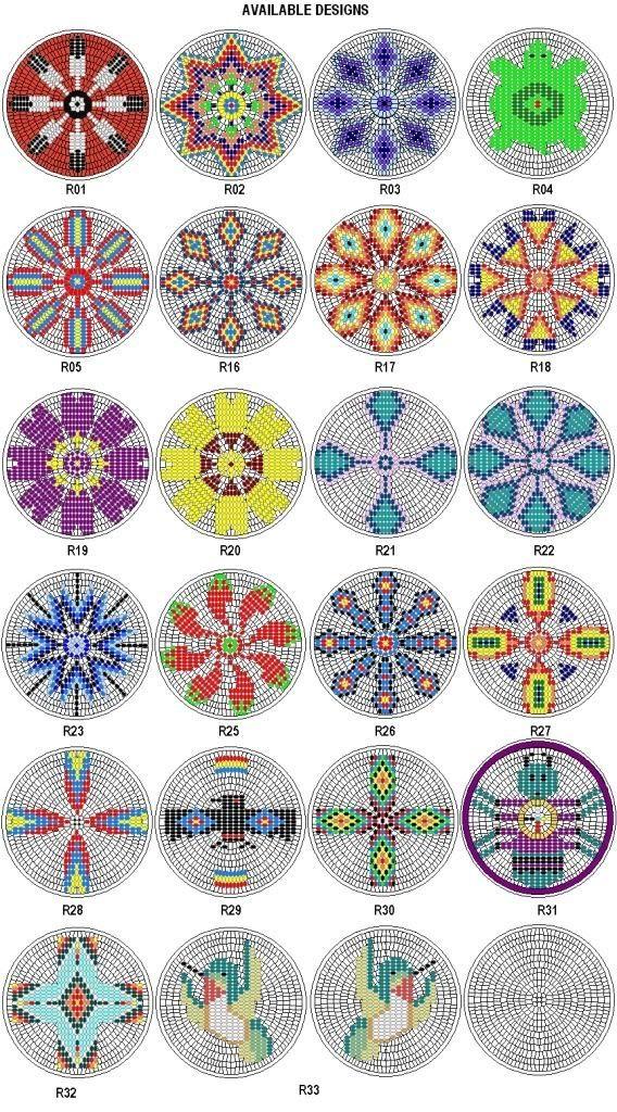 Native American Beading Patterns   Rosette by smetana