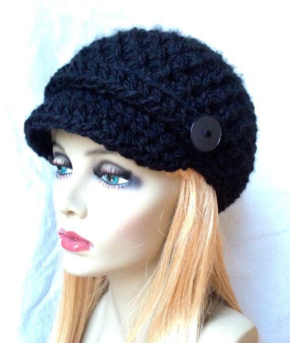 Crochet Womens Hat, Newsboy