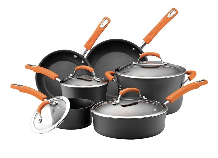Rachael Ray Hard Anodized II Nonstick Dishwasher Safe 10-Piece Cookware Set - $99.99 Shipped! Today Only!