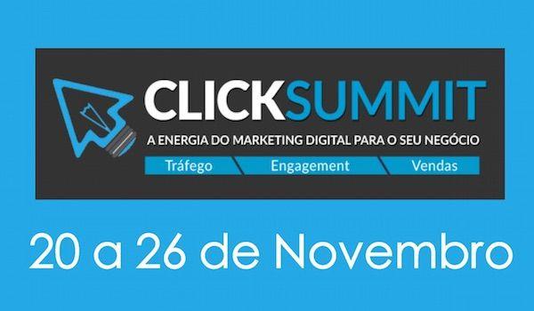 CLICKSUMMIT 2014  O maior evento de Marketing Digital exclusivamente online e gratuito a ser realizado em Portugal decorrerá a partir desta quinta-feira, 20 de novembro e irá prolongar-se durante 7 dias, até 26 de novembro, com 7 palestras por dia.  fonte: pplware  #clicksummit #portugal #economiadigital #marketingdigital #modernistablog