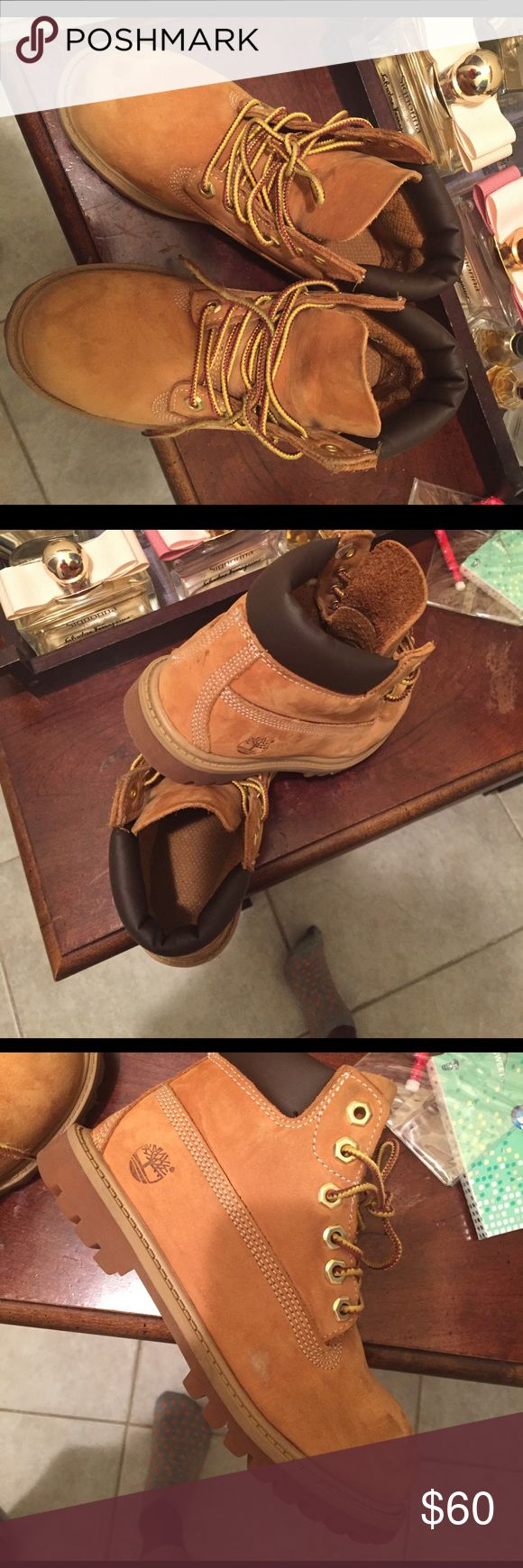 Kids timberland boots Slightly used tab timberland size (12) Shoes Boots