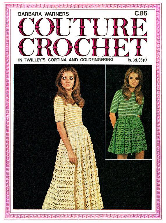 PDF Vintage 1970s Womens Ladies Dress Crochet Pattern Summer