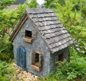Primitive cottage miniature house fairy houses for sale for Gardeners supply canada