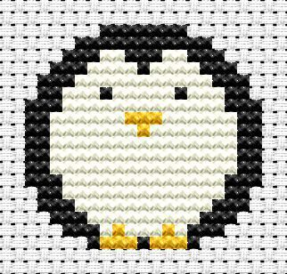 Easy Peasy Penguin cross stitch kit