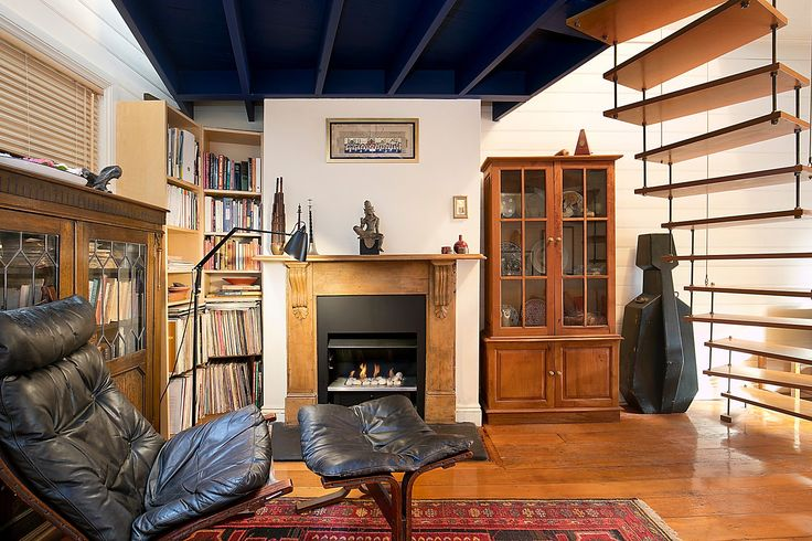 Main living including fireside library nook - 41 Starling Street Lilyfield at Pilcher Residential