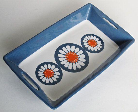 Figgjo Flint Turi Design Daisy Serving Dish by 20thCenturyStudio