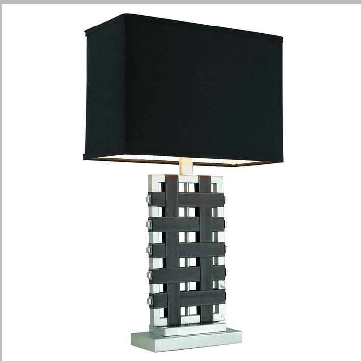Gen-Lite Industries 103930 Silver Leather Table L& - Lighting Universe  sc 1 st  Pinterest & 54 best Lamps images on Pinterest | Table lamps Contemporary ... azcodes.com