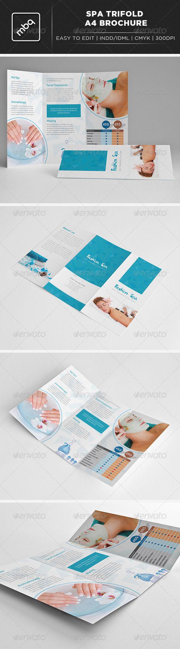 Spa Trifold A4 Brochure #GraphicRiver