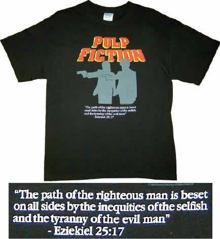 Camiseta Pulp Fiction con el Pasaje Ezequiel 25 17   Merchandising Películas