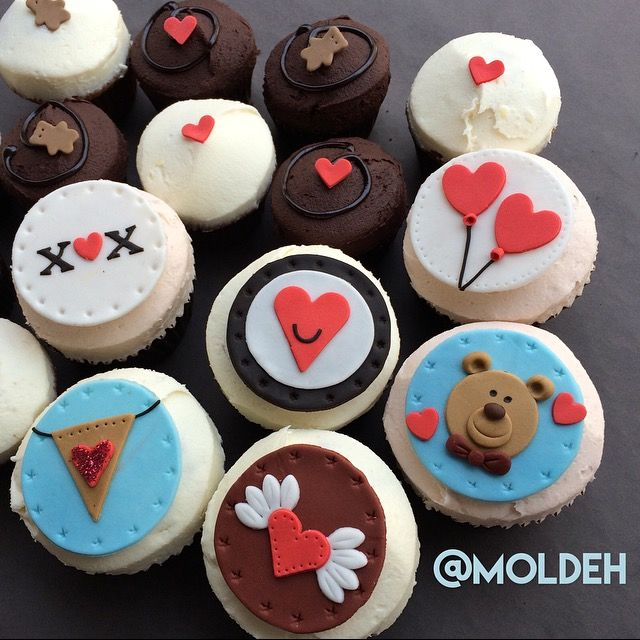 Cupcakes de nuestra temporada de San Valentín '16 // Valentines '16 Cupcake season