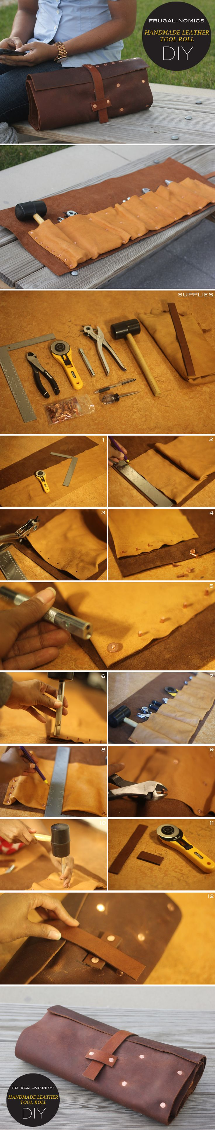 Frugal-nomics DIY : HANDMADE LEATHER TOOL ROLL | Frugal-nomics.com