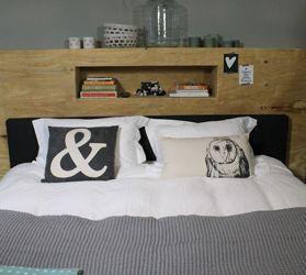 17 beste idee n over houten hoofdeinde op pinterest for Foto op hout maken eigen huis en tuin