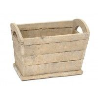 Make your garden beautiful by filling this Clay Wooden Look Trough with your favourite blooming flowers.
