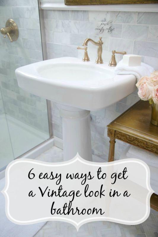 6 Style Ideas For Vintage Charm In A Bathroom Bathrooms