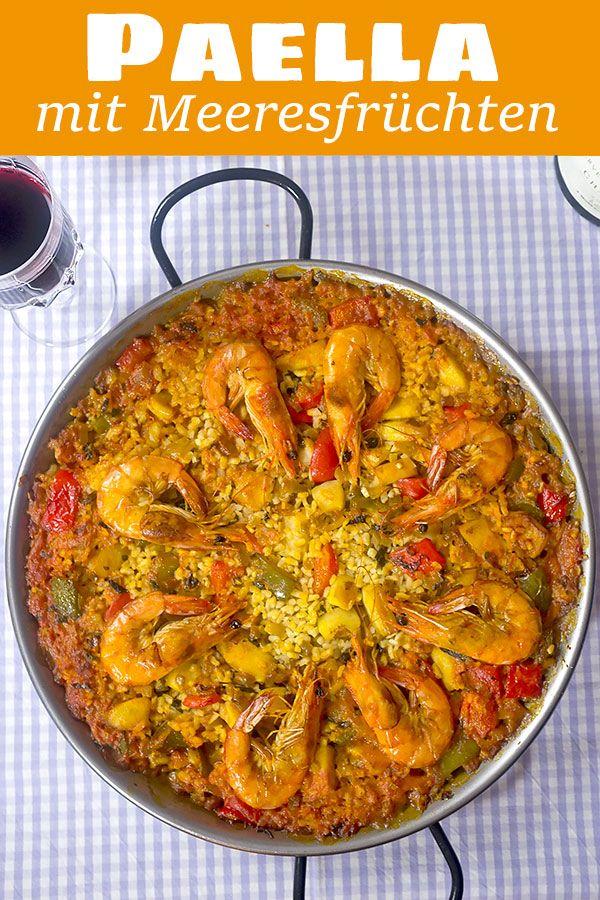 Paella mit Meeresfrüchten (Paella de Mariscos)   Madame Cuisine Rezept