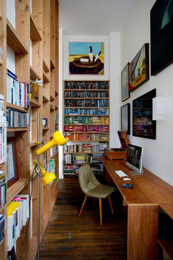 Baño Pintado De Amarillo:Tiny Home Interior Eclectic
