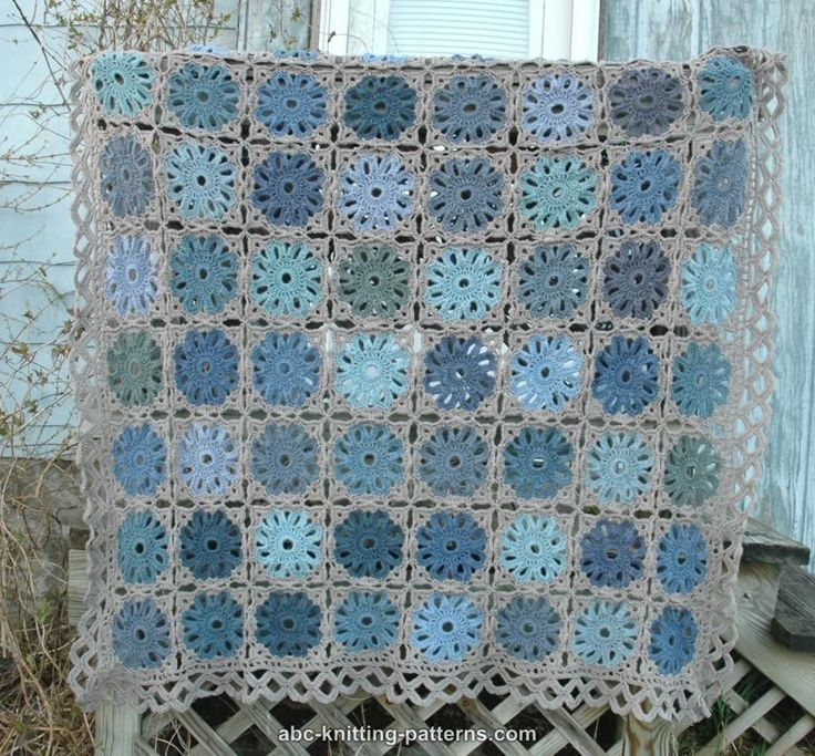 ABC Knitting Patterns - Flower Arbor Throw