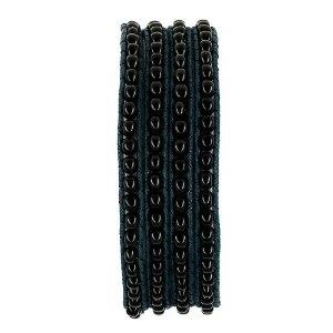 Bracelet corde bleue et perles noires - Bijou fait main: ShalinCraft: Amazon.fr: Bijoux