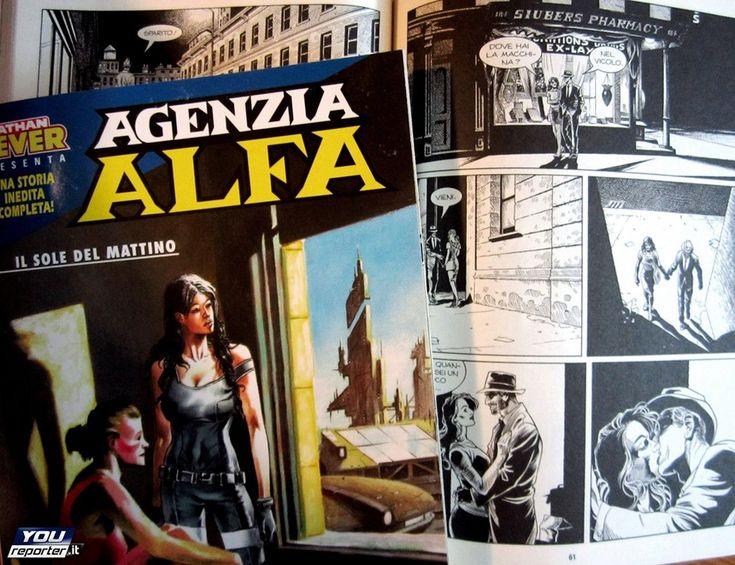 """""""Agenzia Alfa n° 33, Il sole del mattino"""", testi di S.Piani e disegni di Melissa Zanella . (L'eredità di Hopper -Sergio Bonelli Editore). ."""