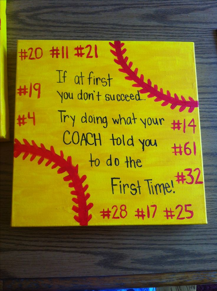Softball coach gift idea.
