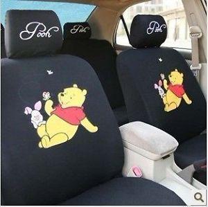 New Winnie The Pooh Car Seat Covers Black