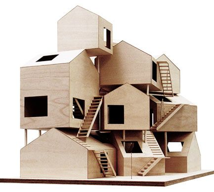 a wood model of tokyo apartments image courtesy sou fujimoto architects