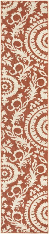 Surya ALF-9613 Alfresco Power Loomed Polypropylene Rug Red 3 1/2 x 5 1/2 Home Decor Rugs Rugs