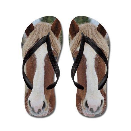 horse is a cute pet animal Flip Flops on CafePress.com