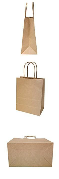 "Brown Paper Bags Wholesale. 8""x4.75""x10"" - 100 pcs - Brown Kraft Paper Bags, Shopping, Mechandise, Party, Gift Bags.  #brown #paper #bags #wholesale #brownpaper #paperbags #bagswholesale"