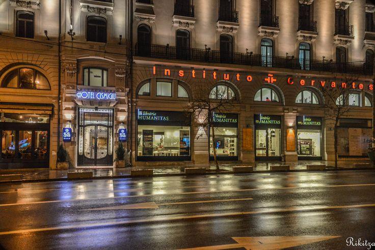 Night on the Boulevard Bucharest - Romania