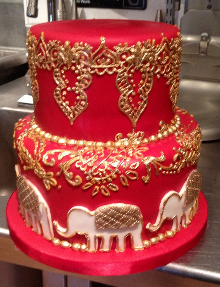 red and gold wedding cake ideas 17 mejores im 225 genes sobre wedding cakes indian 19078