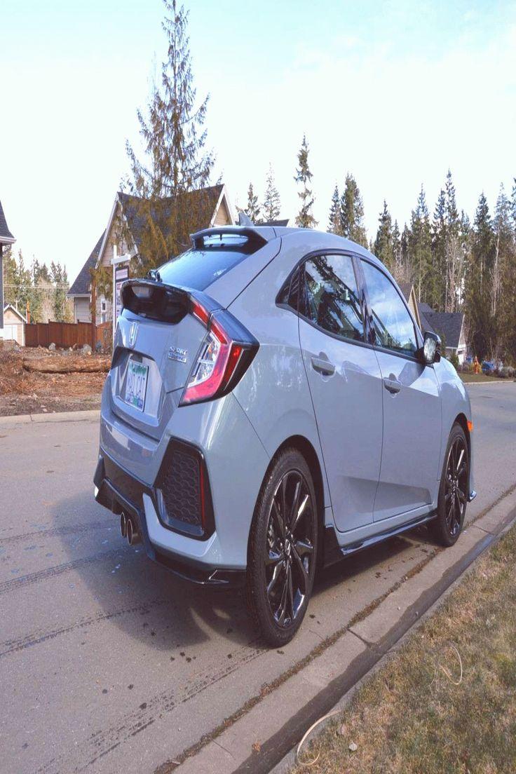 2018 Honda Civic Hatchback Sport 15 Turbo Sonic Gray Pearl