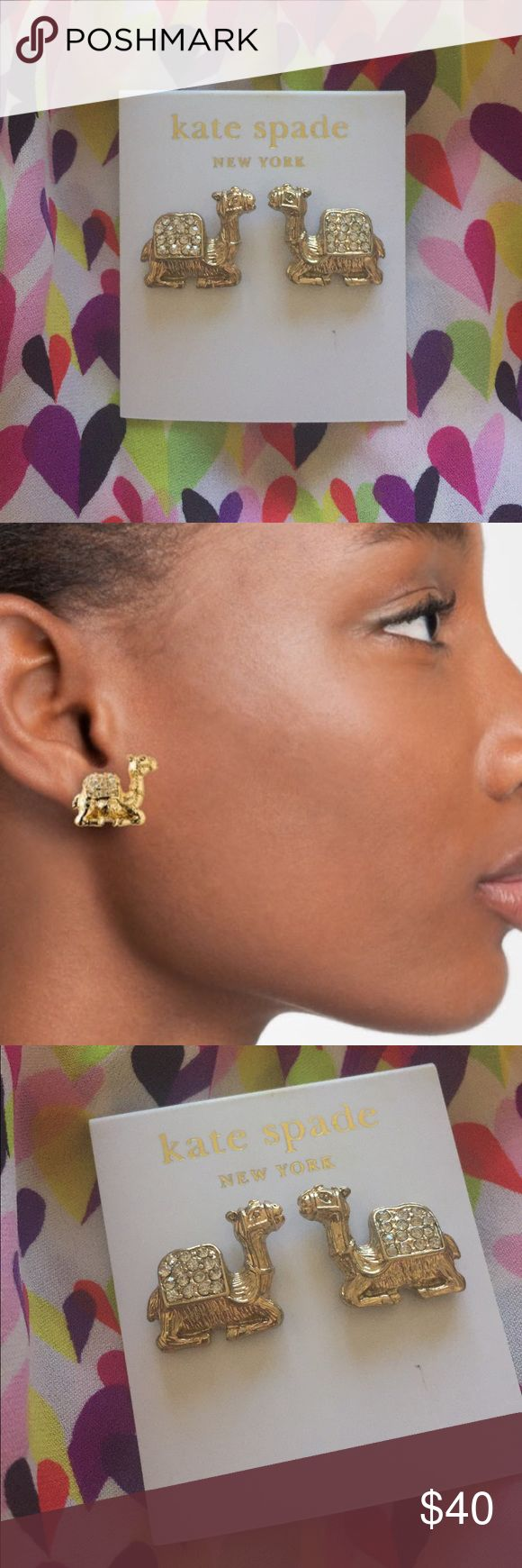 Kate Spade 🐫 camel earrings! 🐫 So stinkin cute and hard to find! kate spade Jewelry Earrings