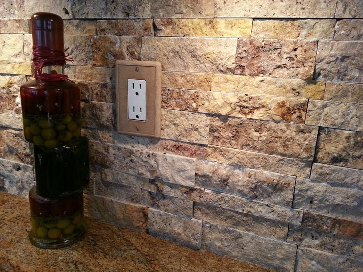 Stacked stone backsplash | Dream Home | Pinterest | Stacked stone ...