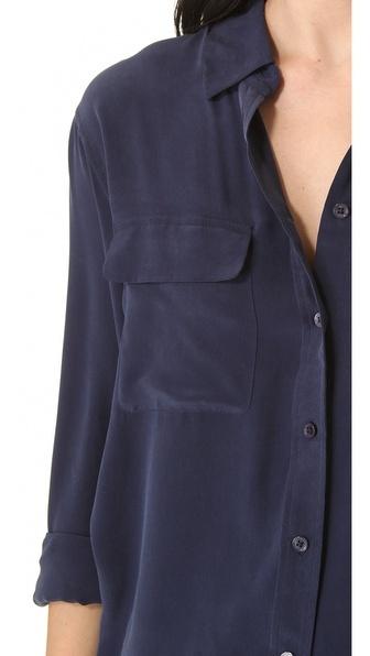"Navy Equipment blouse in ""peacoat"""