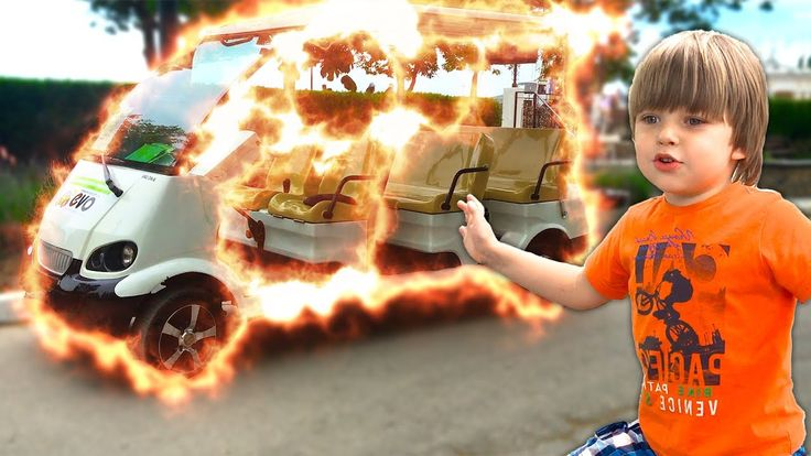 Bad Baby Вредный Малыш Гигантская Пушка уничтожила Машину Kid Magic Tran...