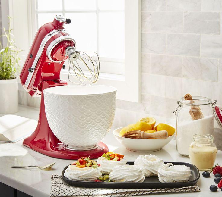 Kitchenaid 5qt textured ceramic stand mixer bowl qvc