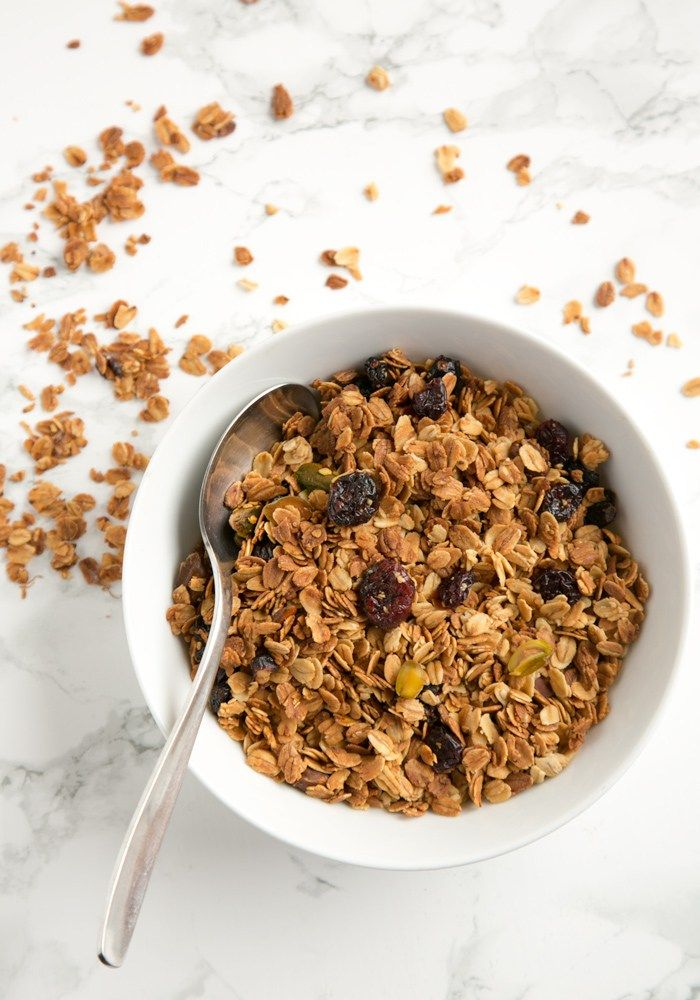 This Christmas Homemade Granola recipe is loaded up with ...
