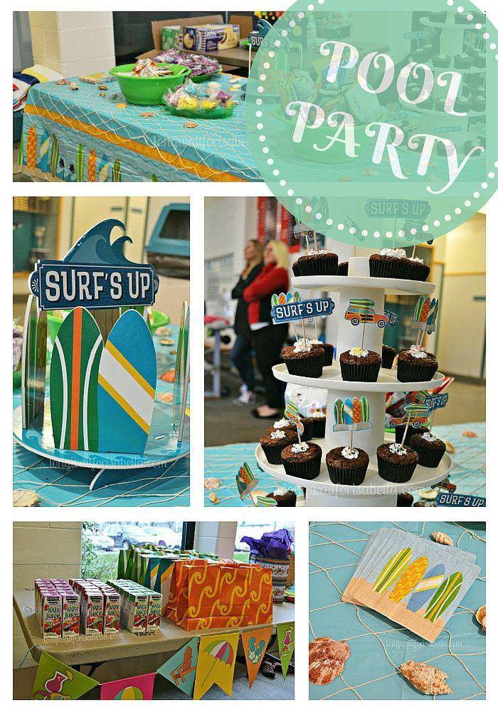 Festa na piscina de 8 anos (no inverno!)   – Party Ideas
