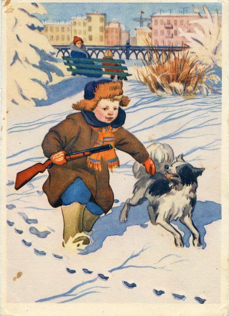 Поздравления, с новым годом охотники открытка