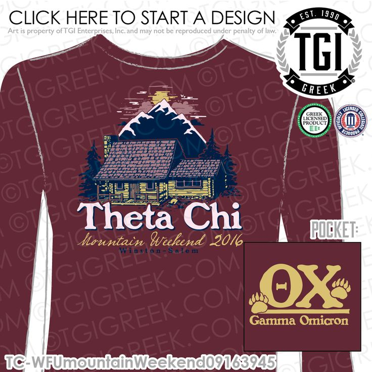 TGI Greek- Theta Chi- Greek Apparel #ThetaChi #MountainWeekend #DateParty