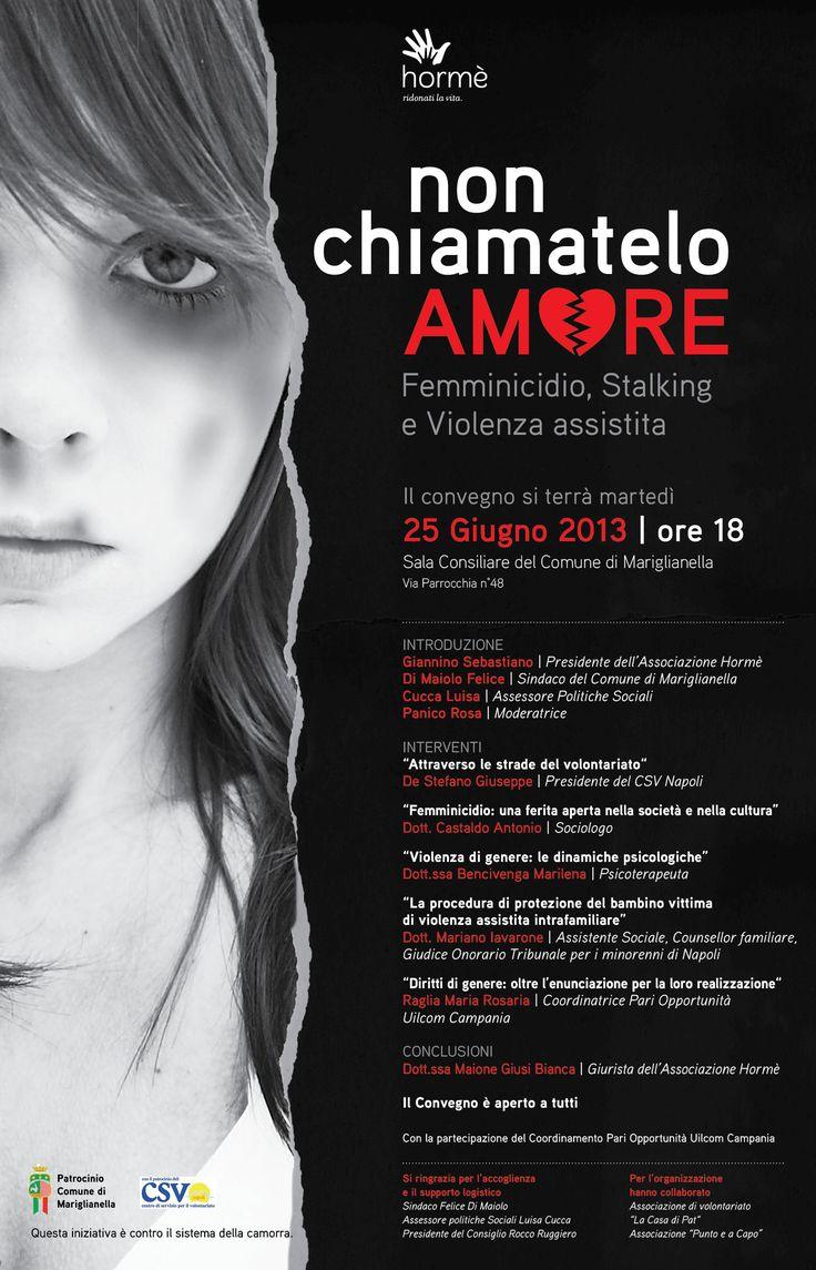 """""""Non chiamatelo Amore"""", a Mariglianella un convegno sul femminicidio"""
